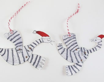 Paper Craft: Christmas Bird Decorations [Instant Download]