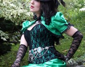 Emerald Enchantress - Medieval Victorian Ball Gown - Ready to Ship