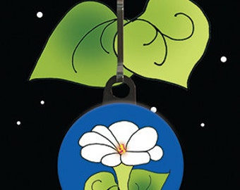 Zipper Pull Charm - Morning Glory