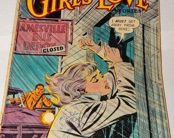 1959 Girls Love Romance Comic Book, From Here to Heartbreak, Valentines Romance, My Secret Love, Waiting, A Lifetime of Love, Scandal