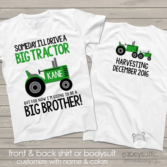 tractor big brother shirt perfect pregnancy announcement for the big brother to be
