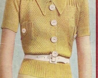 Enchanting Jumper Vintage Knitting Pattern 214