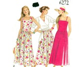 Wrap Jacket & Dress Pattern New Look 6272 Princess Seam Sundress Crossover Wrap Top Waist Tie Womens Sewing Pattern Size 8 to 18 UNCUT