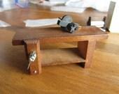 Dollhouse Decor. Wooden Workbench- Shop Area #143