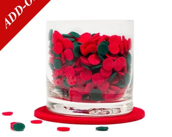 Felt Confetti - Christmas, Red and Green, Mulitple Pack Sizes Available, Add-On Item, Holiday Decoration, Party Confetti