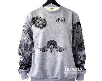Levine Tattoo Sweatshirt Sweater Crew Neck Shirt– Size S M L XL