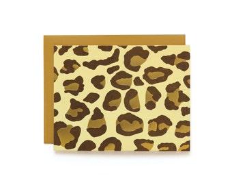 Leopard - set of 6 letterpress cards