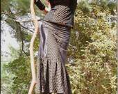 Skirt - Steampunk - Bohemian - Patchwork - Burning Man - Playa Wear - Gypsy Boheme - Designer Fashion - Sexy - Fashion - Size Small