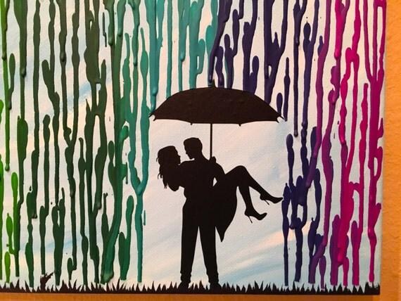 Housewarming Gift Home Decor Melted Crayon Art Rainbow