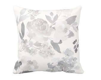 Pillow Cover Grey Rose Floral