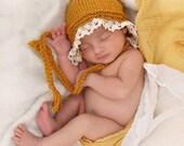 Newborn photo prop, newborn hat, newborn prop, newborn girl, knit newborn hat, newborn props, Newborn bonnet, newborn girl hat prop