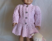 Lacy Knit Jacket and Skirt Doll Knitting Pattern