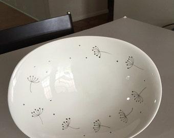 Sascha Brastoff Mid Century/ Danish Modern/Dandelion/ Porcelain White Bowl / Winrock Pattern/ Fine China USA / By Gatormom13
