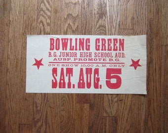 Vintage Bowling Green High School Play Poster - 1978