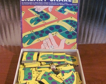 """Vintage 70's """"Sneaky Snake"""" House of Games Puzzle Game - Waddingtons - Children's Game - Kids Game- 70's Board Game"""