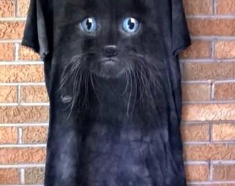 Vintage Black Cat T Shirt