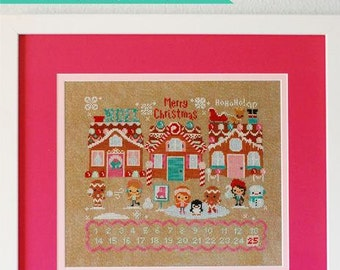 Christmas on Gingerbread Lane : The Frosted Pumpkin Stitchery counted cross stitch patterns kawaii Amigurumi embroidery the cottage needle