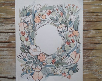 ORIGINAL- Floral Wreath