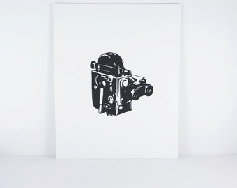 Super 8 Camera -Vintage Camera - Minimalist - Wall Art - Home Decor - Film Camera - Iconic Art