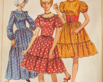 She'll be coming round the mountain prairie style dress and bonnet pattern Simplicity 6832