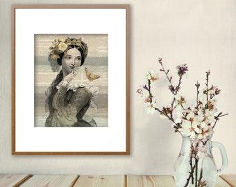 women prints shakespeare women edwardian women home decor wall art neutral - Woman Home Decorating