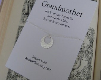 GRANDMA NECKLACE. Grandmother Grandchild. Grandmother Gift. Grandma to be.  Sterling Silver.  Mothers day gift. Family Tree