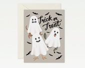 Animal Ghosts Halloween Card