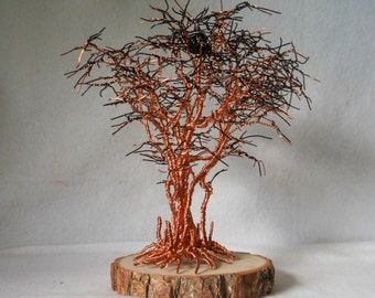 Wire Tree Sculpture,Wire Art,Metal Tree,Wire Sculpture,Metal Sculpture,Copper Art,Home Decor,Family Tree,Tree of Life,Home Decor,US Artist,