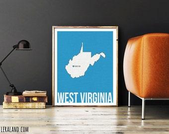 I love Charleston, West Virginia, WV, 11x14 or 8x10, customizable city, I heart pop art poster, digital art print, home decor state art