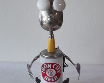 TURBO- Found object robot sculpture~assemblage