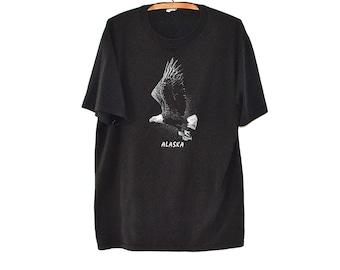 80s Alaska T Shirt - Vintage Wildlife T - Eagle T Shirt - Vintage Tourist T Shirt Alaska