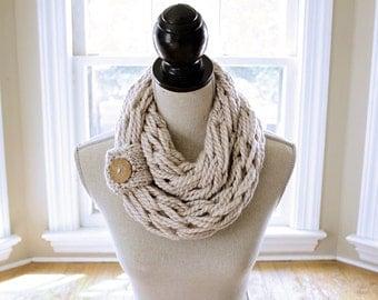 Infinity Scarf // Chunky Knit Scarf // Arm Knit Scarf // Simply Maggie