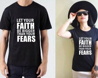 Faith Over Fear Christian Shirt, Faith Over Fear Tee, Faith Shirts, Faith Bible Verse Shirt, Men's Christian Shirts, Women's Christian Shirt