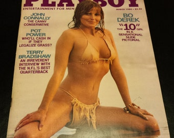 Vintage 1980 March Issue of Playboy Magazine