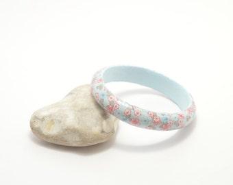 Wooden decoupage bracelet, wooden bracelet, decoupage bracelet, bangle, wooden bangle, decoupage bangle, flower bracelet, floral bangle