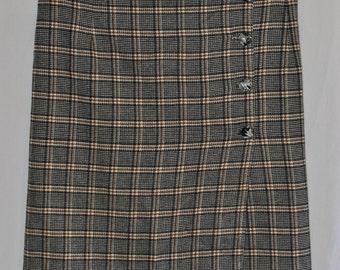 Plaid Secretary Skirt