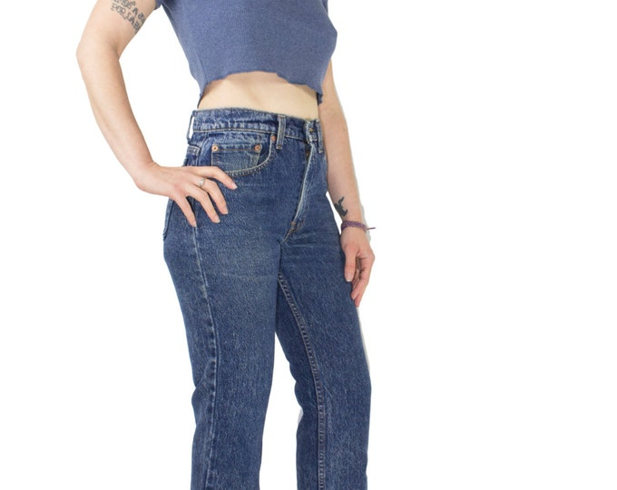Vintage 90s Levis Jeans | High Waist Levi's 505 Stonewashed Denim | Size 29W | Grunge Retro Mom Jeans Boyfriend Jeans