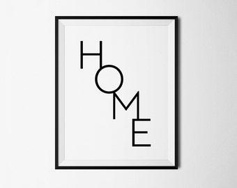 Home poster, Home print, Home printable, Home digital, Minimalist print, Wall Prints, Printable digital, Home wall print, Home decor