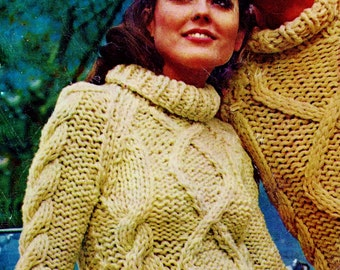 Fisherman Cable Sweaters Vintage Knitting Patterns Download