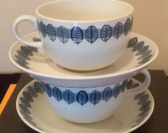 Arabia Cups & Saucers / Price is for ALL 4 Pieces / FREE USA Shipping!