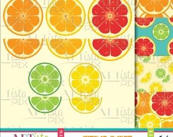 Fruit Clipart, Citrus Clipart, Citrus Burst, Food Clipart, Citrus Images, Digital Images, graphics