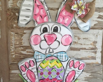Easter Door Hanger - Easter Decor - Easter Decorations - Bunny Door Hanger - Easter door decor - easter wreath