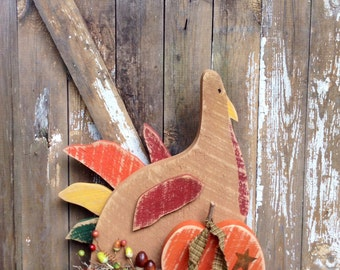 Primitive turkey, Country Primitive, Primitive, Fall Primitive Decor, Thanksgiving decor, OFG team, Primitive fall turkey, rustic turkey