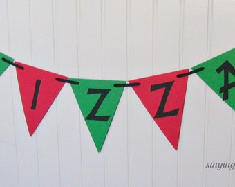 pizza party banner, pizza birthday party, junk food party, slumber party, pizza night banner, pizzeria party banner, pizza party decor