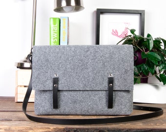 "13 Macbook Bag, Macbook Air Bag, 12"" Macbook Messenger Bag, Laptop messenger bag, Felt bag"