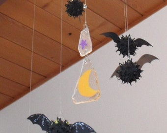 Bat Mobile using Sweet Gum Balls, Glass and Beads