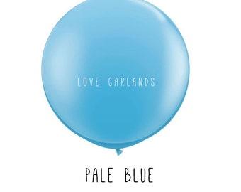 "Pale Blue 36"" Balloon, Blue 36"" Balloon, Sky Blue 36"" Balloon, Baby Boy Shower Balloon, Gender Reveal Balloon, Huge Blue Balloon, Baby Blue"