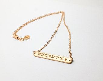 20% OFF Latitude Longitude Necklace / Coordinates Jewelry / Coordinates Gift / Latitude Longitude Jewelry - JN34