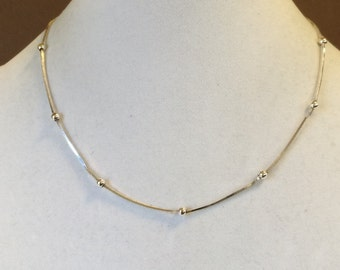 """Sterling Silver Saturn Necklace 18"""""""