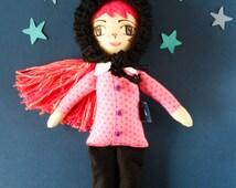 Cat doll, kitty doll, cloth doll, handmade ragdoll, handmade cloth doll, muñeca de trapo, muñeca de tela, heirloom doll, art doll